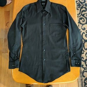 Mens Arrow Fitted (Slim Fit) Dress Shirt in Black